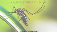 Mosquito Control Checklist